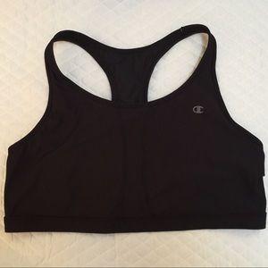 Champion The Vented Black Sports Bra Plus Size 4X